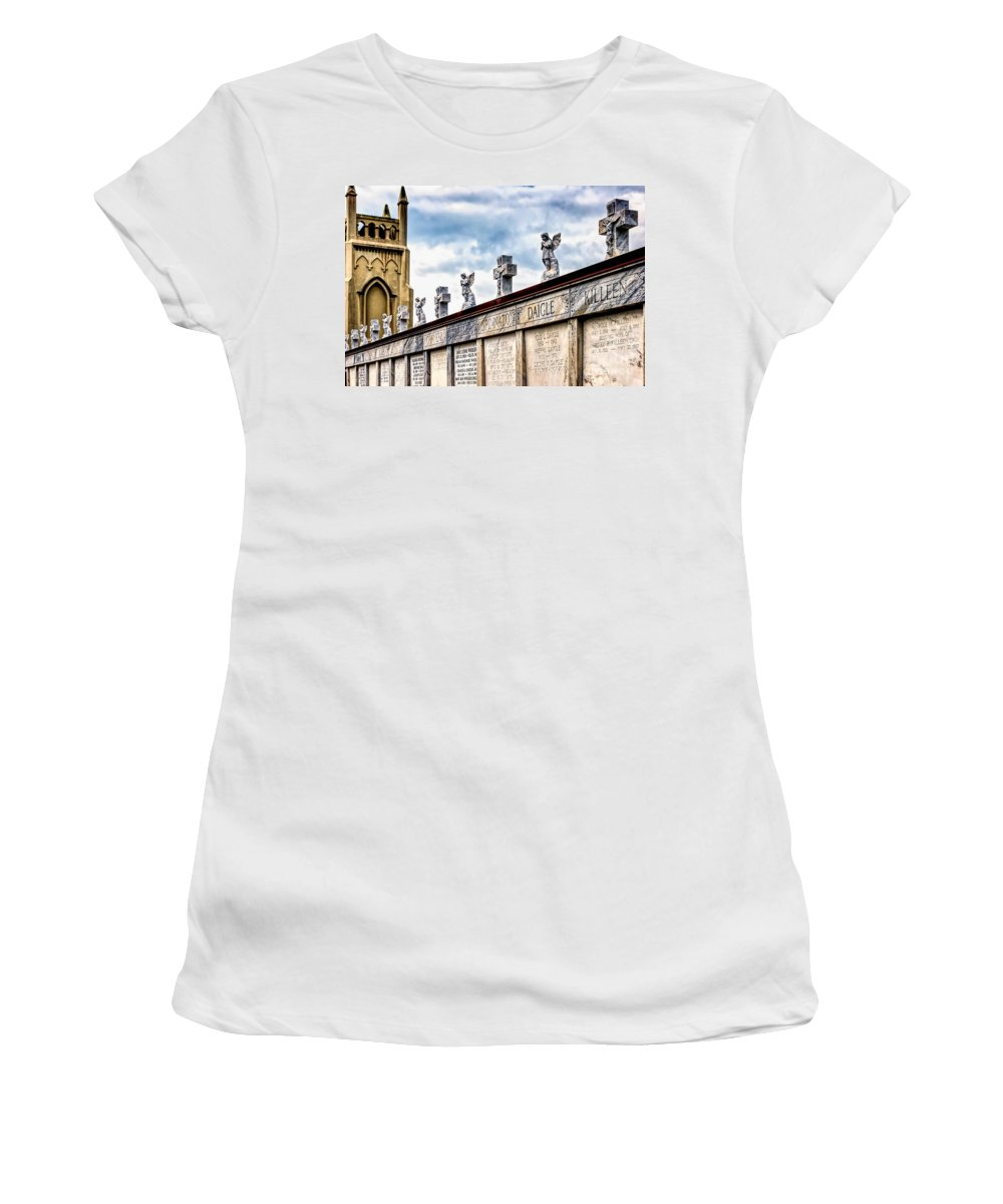 Crosses Women's T-Shirt featuring the photograph Crosses And Angels by Kathleen K Parker