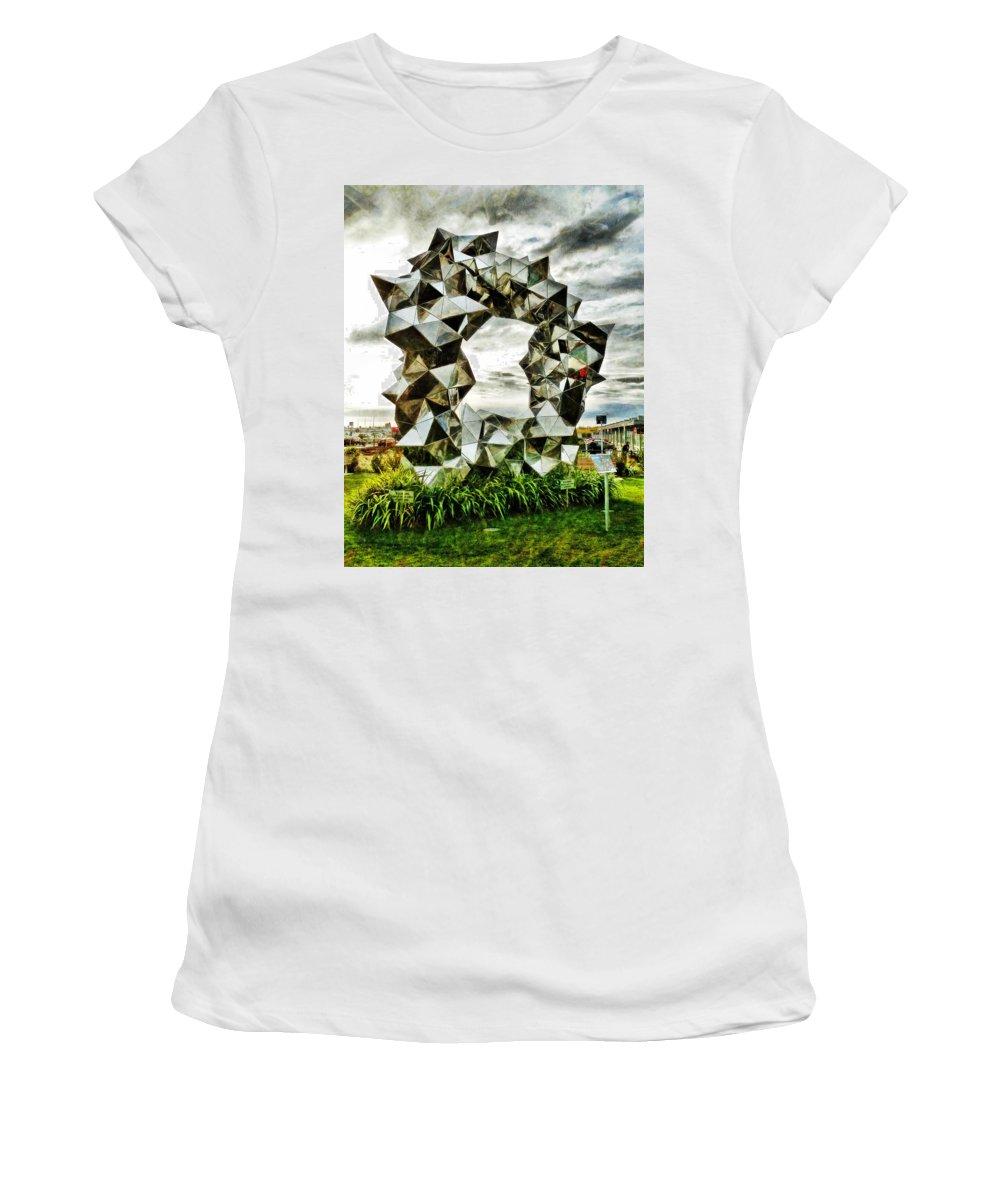 Cumulus Gate Pavilion Women's T-Shirt featuring the photograph Cumulus Gate Pavilion For Richard Pearse By Gregor Kregar by Steve Taylor
