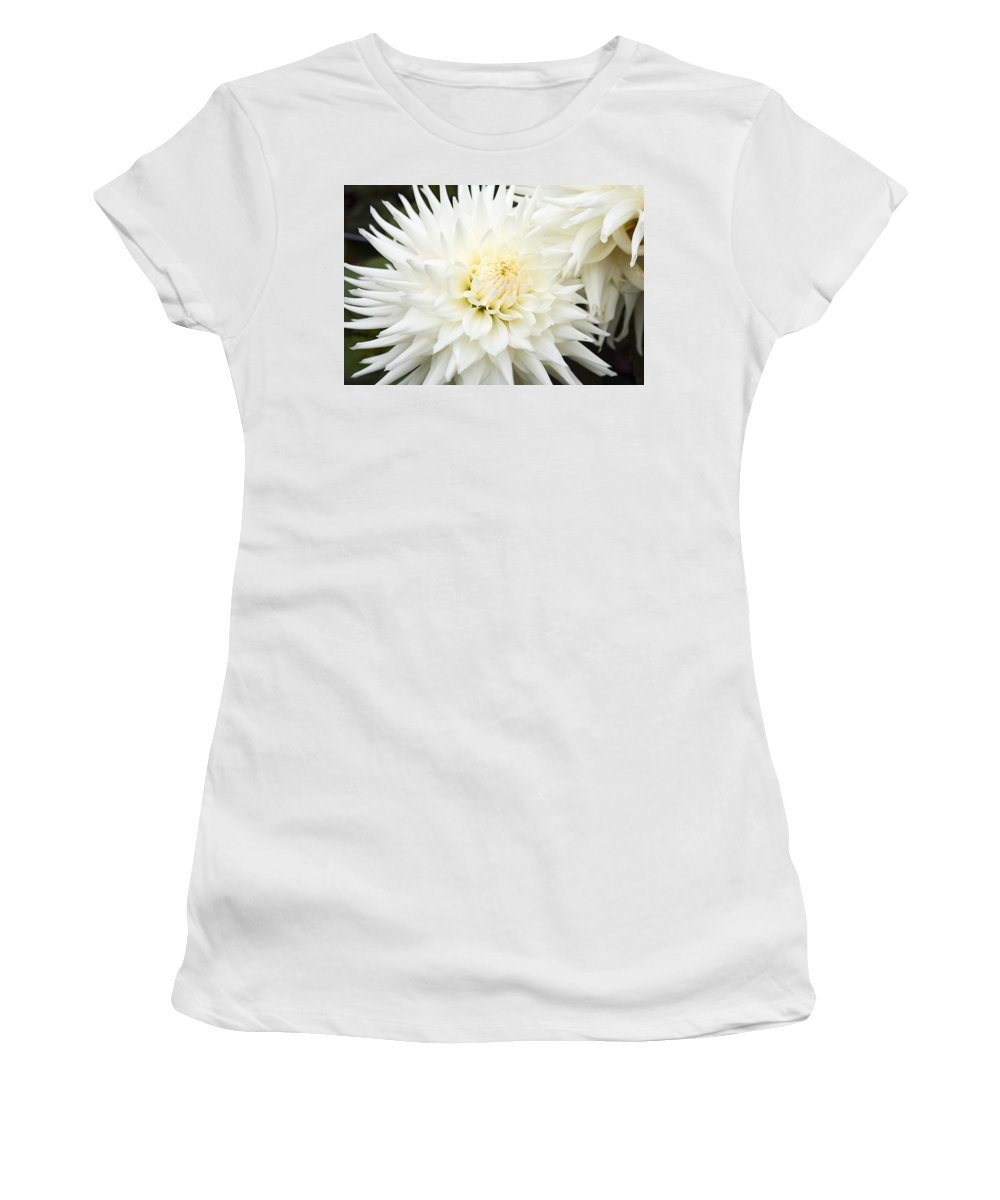 Flower Women's T-Shirt (Athletic Fit) featuring the photograph Dahlia - 3 by Paul Riedinger