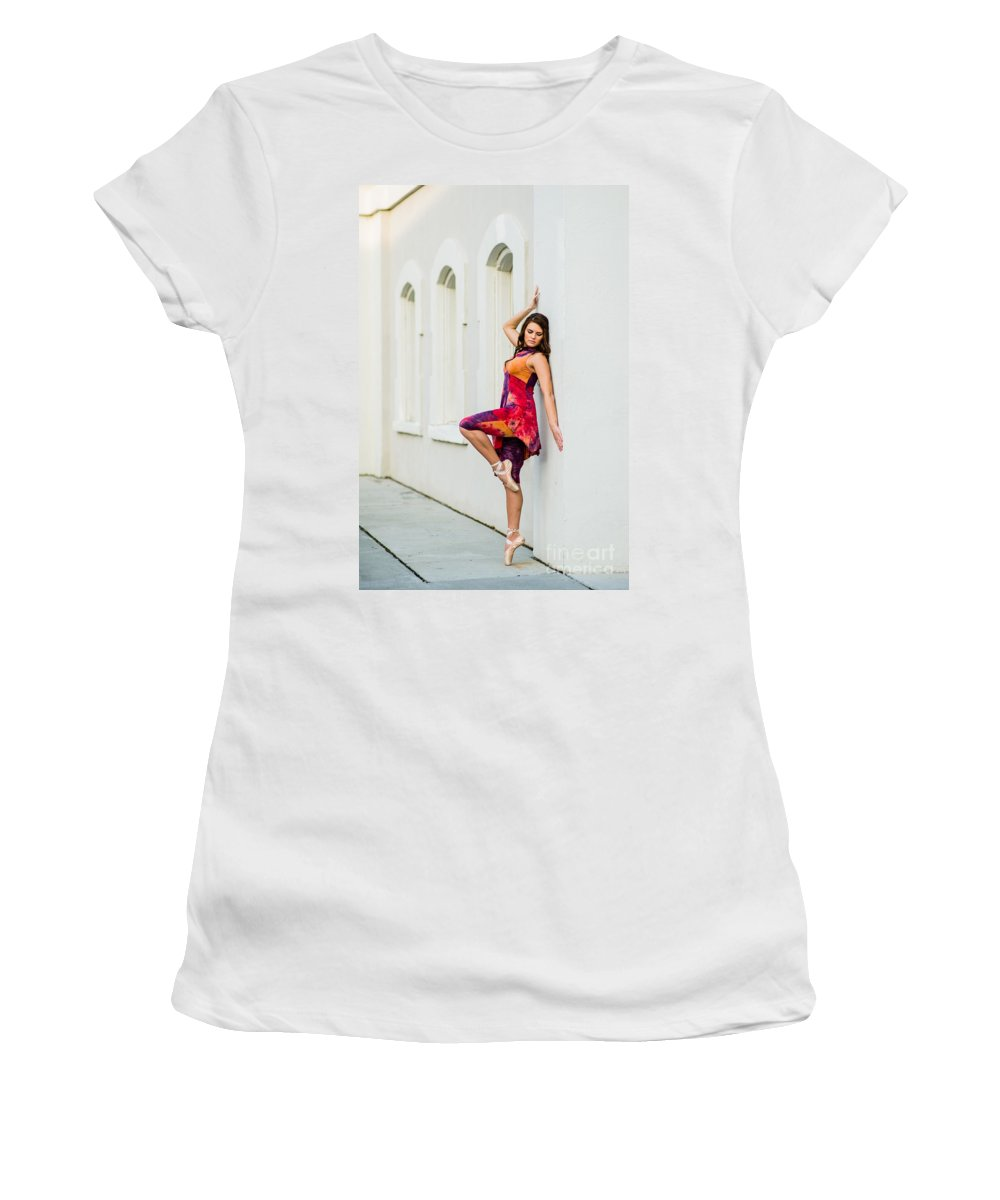 Durham Women's T-Shirt (Athletic Fit) featuring the photograph Dance On The Wall by Jh Photos