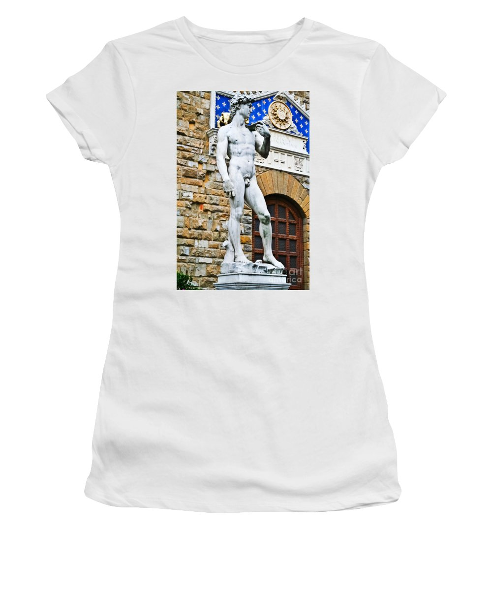 Travel Women's T-Shirt featuring the photograph David by Elvis Vaughn