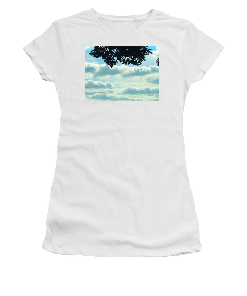 Blue Women's T-Shirt featuring the photograph Day Dreaming With Clouds by Jennifer E Doll