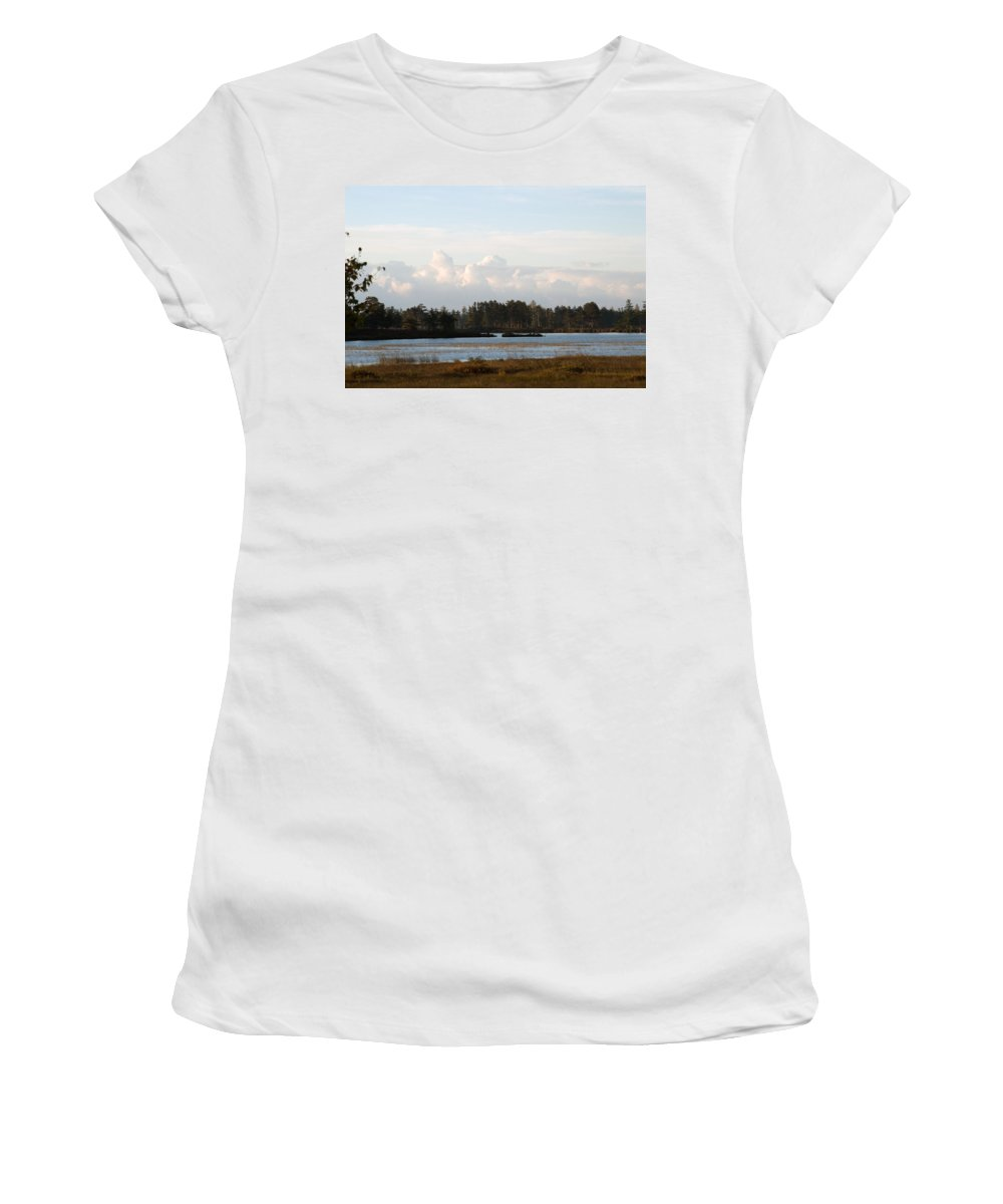 Wetland Women's T-Shirt (Athletic Fit) featuring the photograph Day Of Beauty by Linda Kerkau