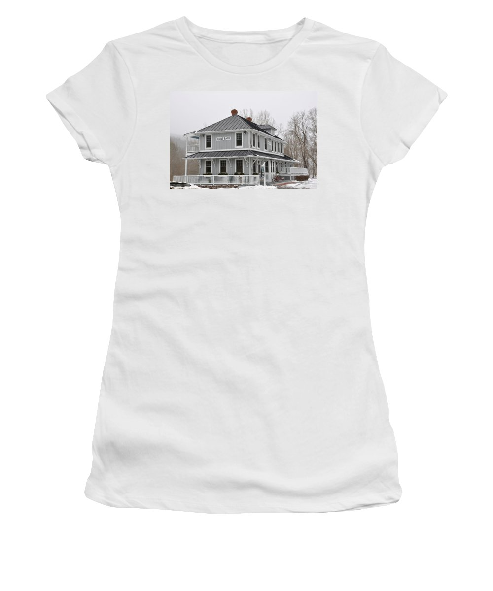 Depot Lodge Women's T-Shirt (Athletic Fit) featuring the photograph Depot Lodge by Todd Hostetter