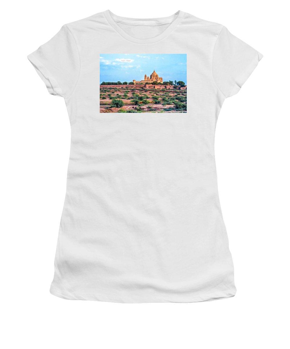 India Women's T-Shirt featuring the photograph Desert Palace by Steve Harrington