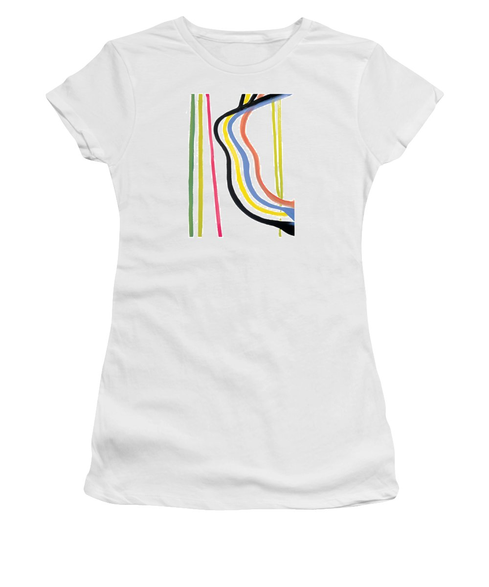 Abstract Women's T-Shirt featuring the painting Destiny by Bjorn Sjogren