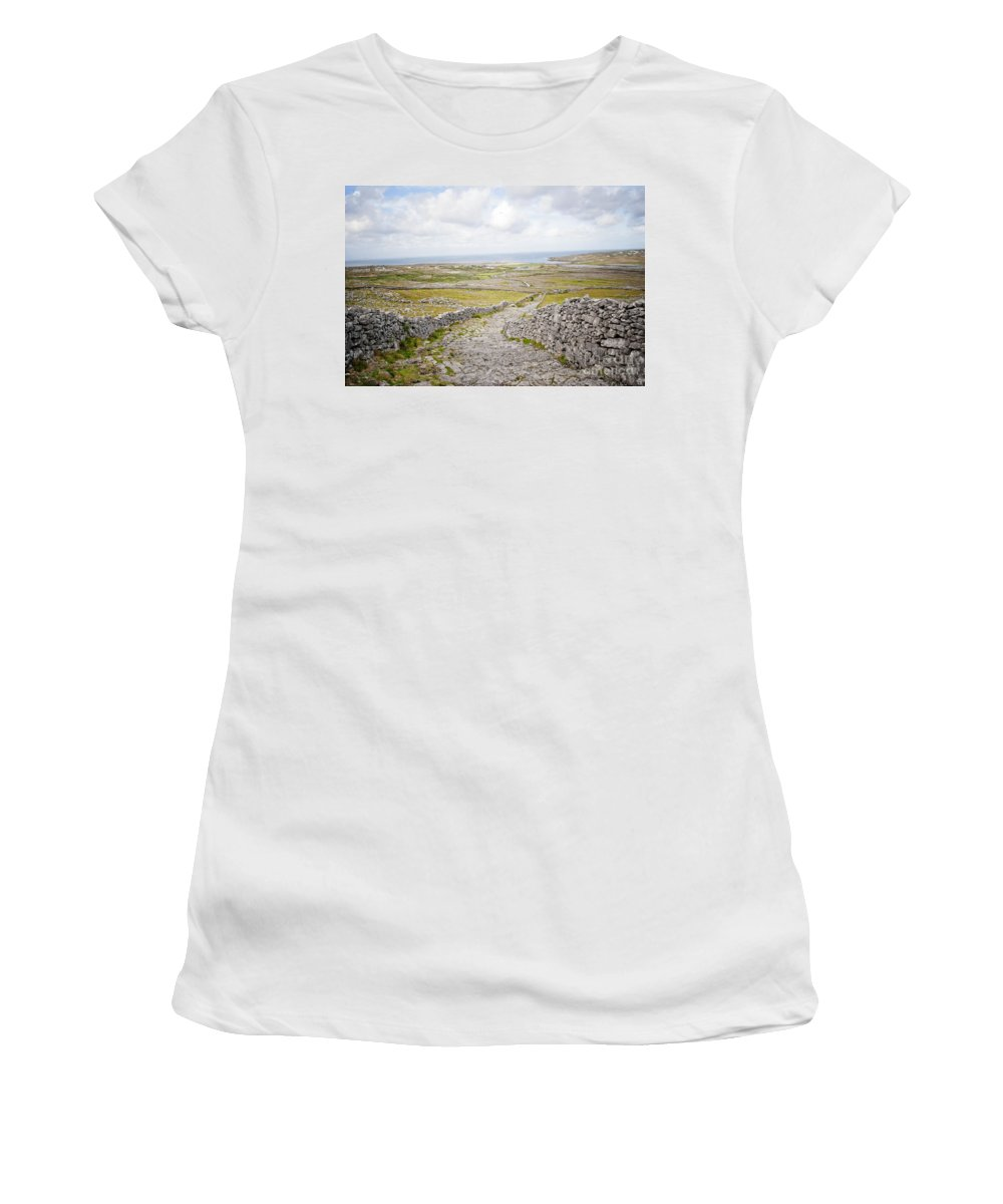 Women's T-Shirt (Athletic Fit) featuring the digital art Don Angus Walk by Danielle Summa