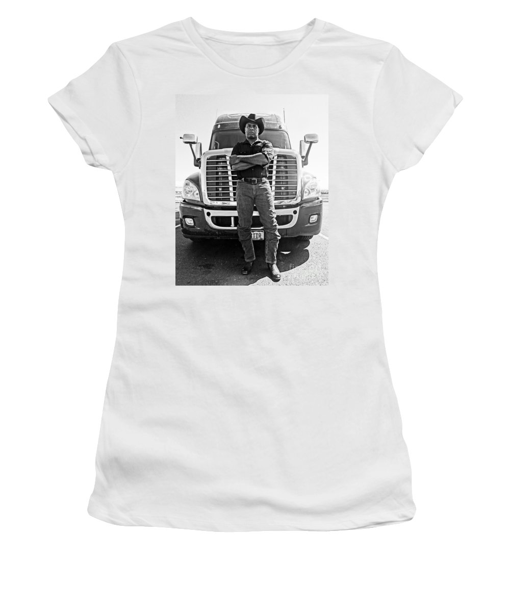 Truck Women's T-Shirt (Athletic Fit) featuring the photograph Don't Mess With My Truck by Korynn Neil