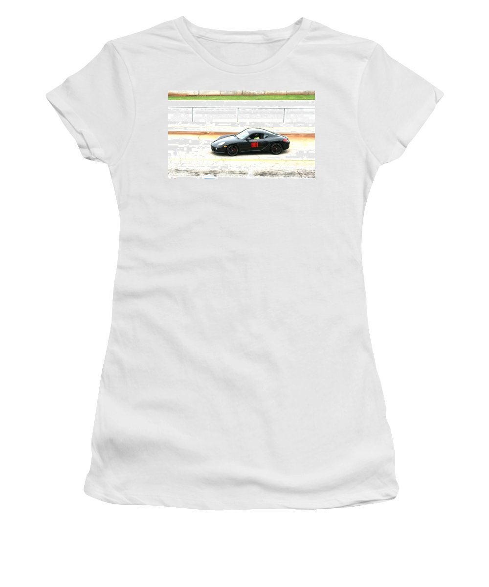 Road Atlanta Women's T-Shirt featuring the photograph Double O One by Stacy C Bottoms