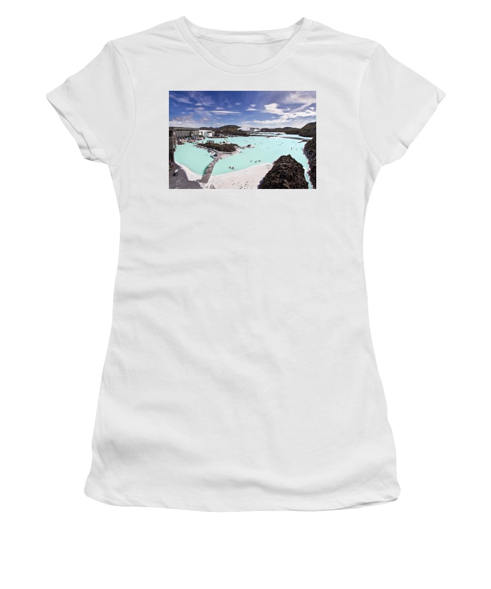 Blue Lagoon Women's T-Shirt featuring the photograph Dreamstate by Evelina Kremsdorf
