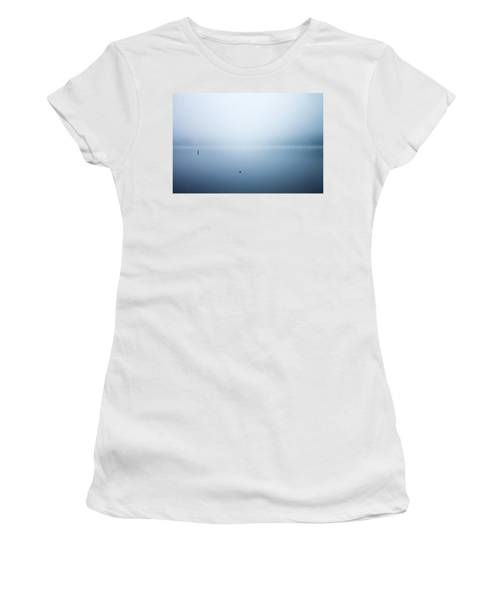 Fog Women's T-Shirt (Athletic Fit) featuring the photograph Early Fog by Jason Micheal