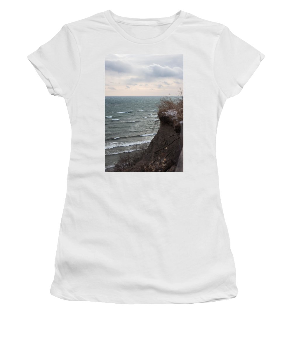 Scarborough Women's T-Shirt featuring the photograph Edge Of Toronto by Kyra Savolainen