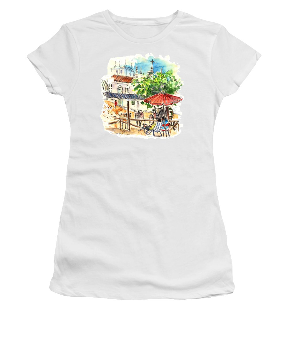 Travel Women's T-Shirt (Athletic Fit) featuring the painting El Rocio 01 by Miki De Goodaboom