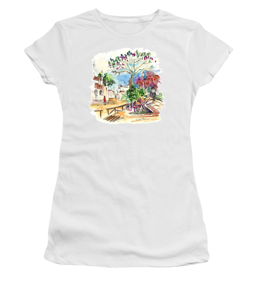 Travel Women's T-Shirt featuring the painting El Rocio 07 by Miki De Goodaboom