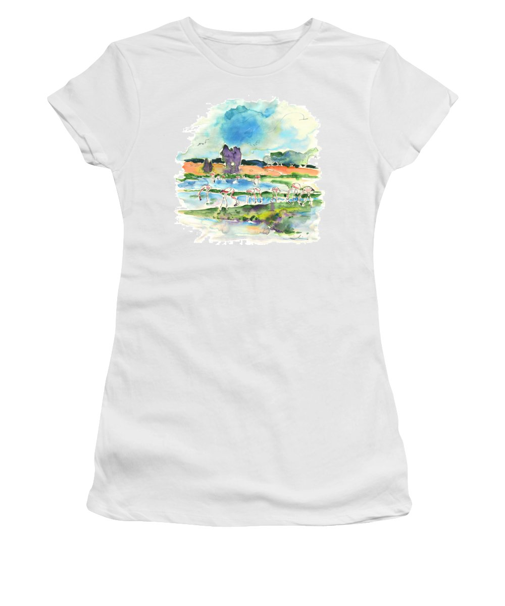 Travel Women's T-Shirt (Athletic Fit) featuring the painting El Rocio 08 by Miki De Goodaboom