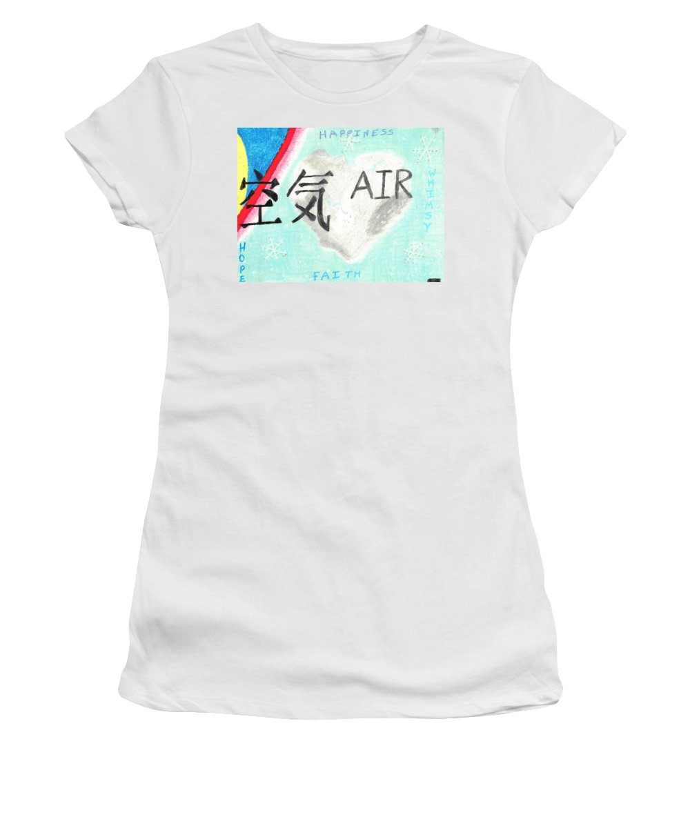 Hope Women's T-Shirt featuring the pastel Elements Of Love Air by Jessica Foster