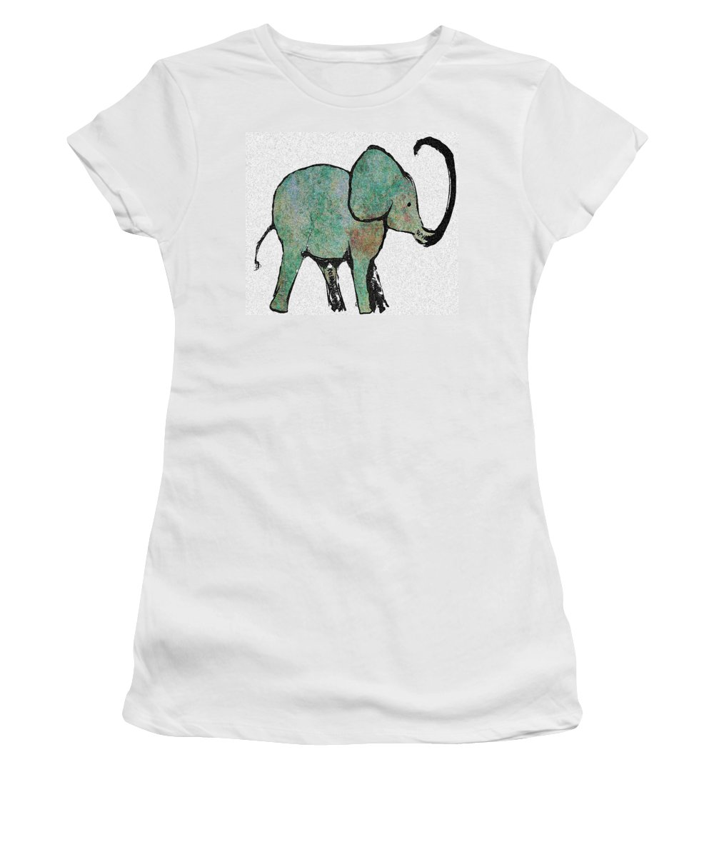 Elephant Women's T-Shirt featuring the digital art Elephant Water Color by Ellsbeth Page