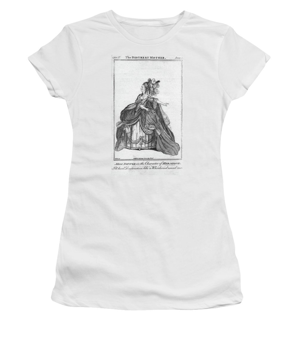 1776 Women's T-Shirt (Athletic Fit) featuring the painting Elizabeth Younge (d by Granger