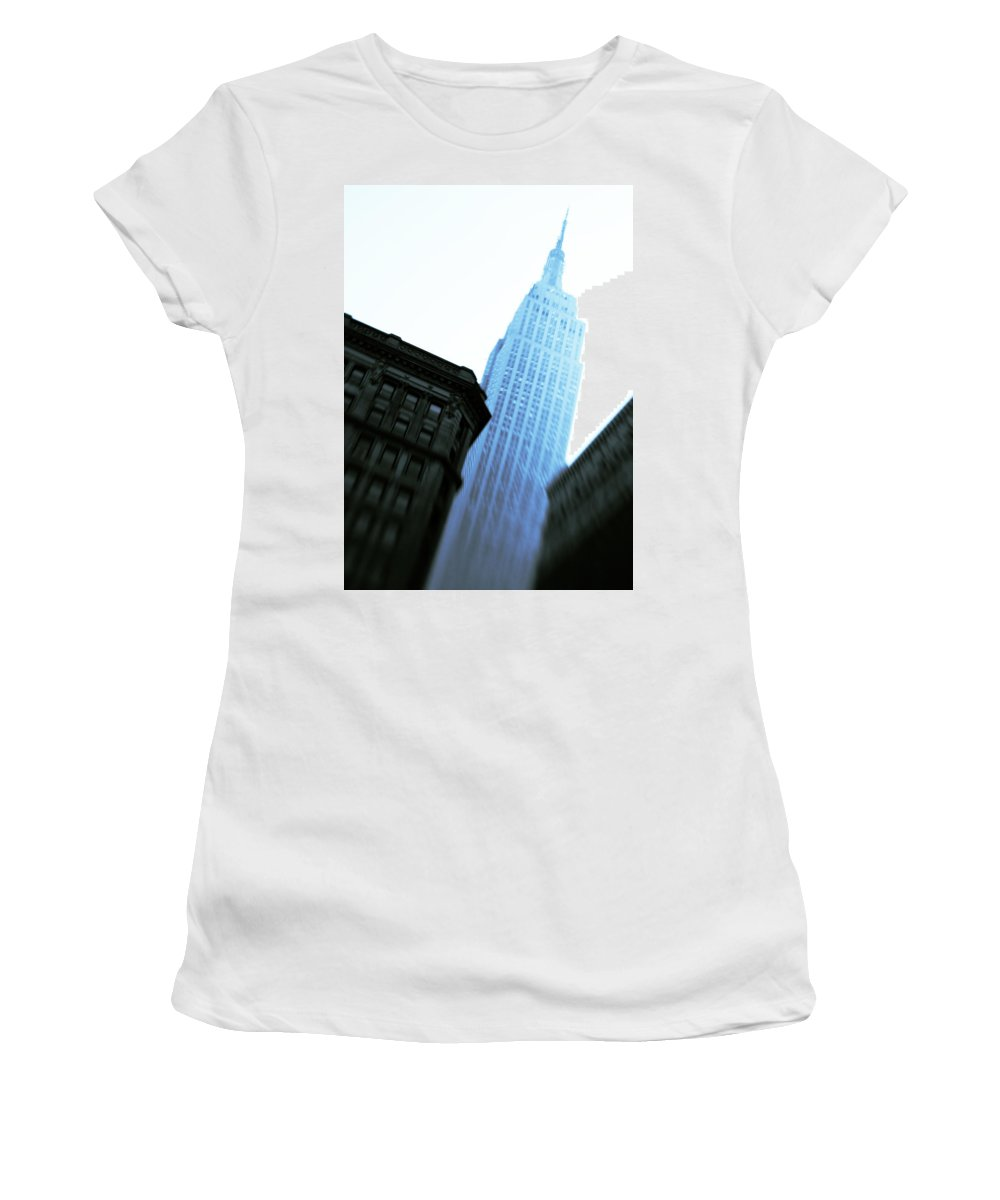 Empire State Building Women's T-Shirt (Athletic Fit) featuring the photograph Empire State Building by Dave Bowman