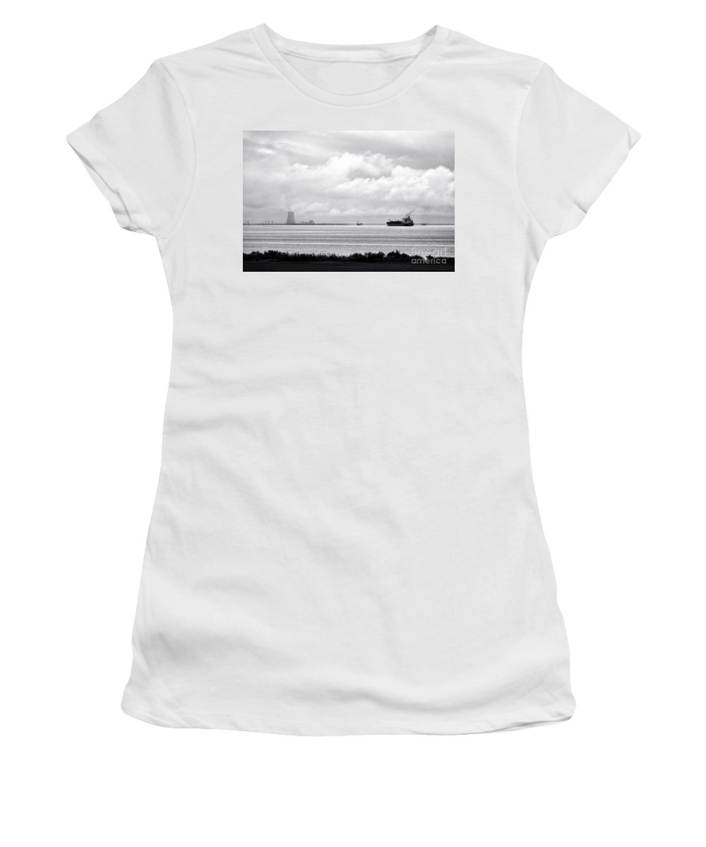 Tankers Women's T-Shirt featuring the photograph Energies by Olivier Le Queinec
