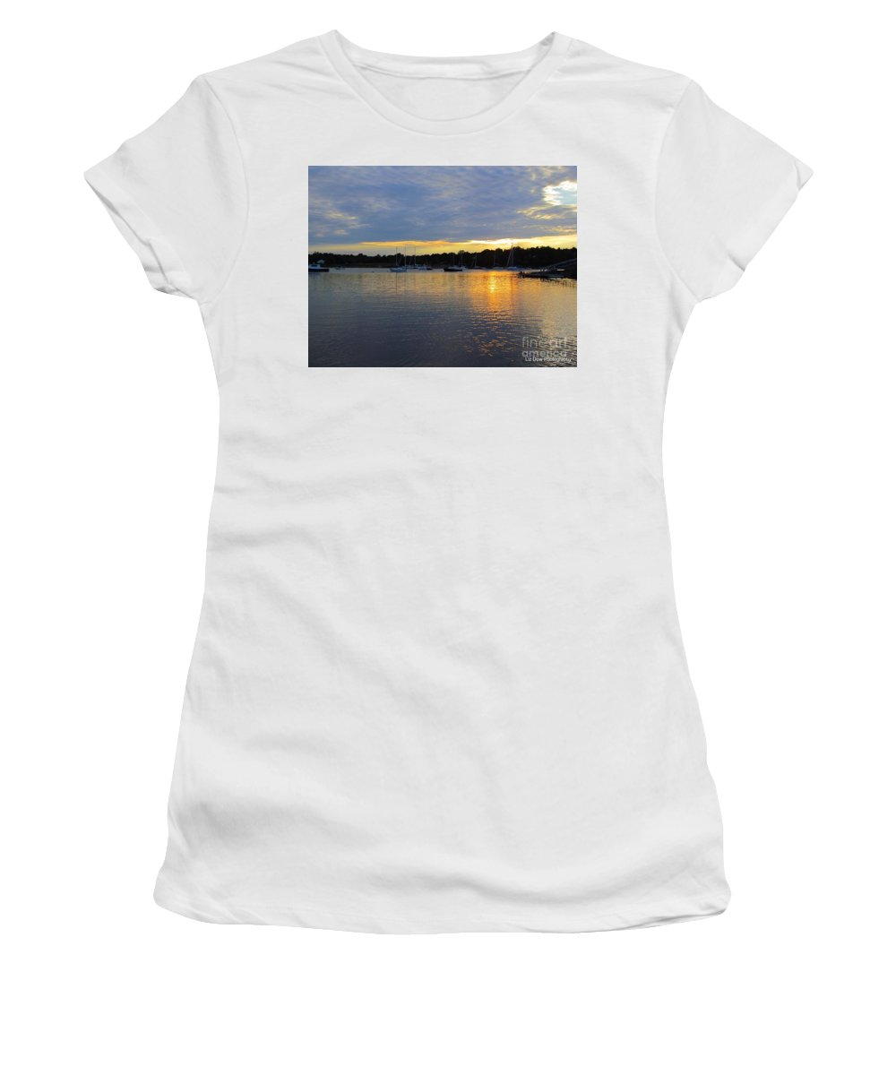 Sunset Women's T-Shirt (Athletic Fit) featuring the photograph Evening Approaches by Elizabeth Dow