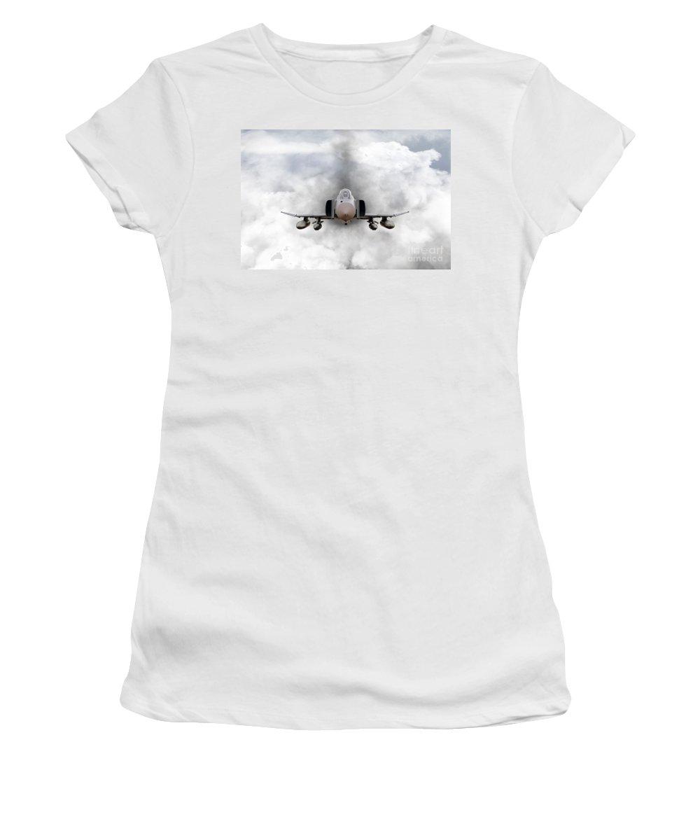 F4 Women's T-Shirt (Athletic Fit) featuring the digital art F4 Phantom by J Biggadike