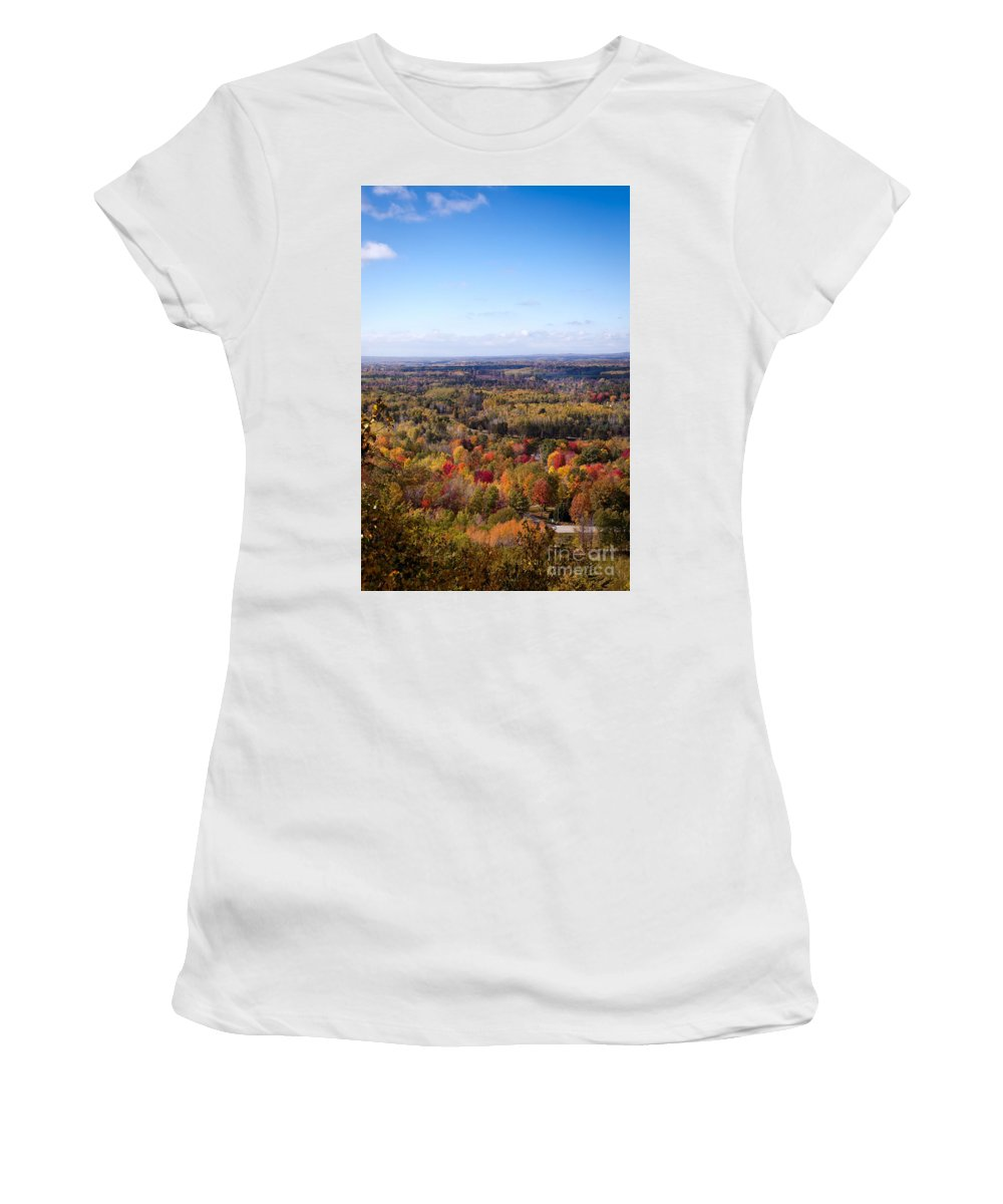 Fall Colors Women's T-Shirt (Athletic Fit) featuring the photograph Fall Colors by Gwen Gibson