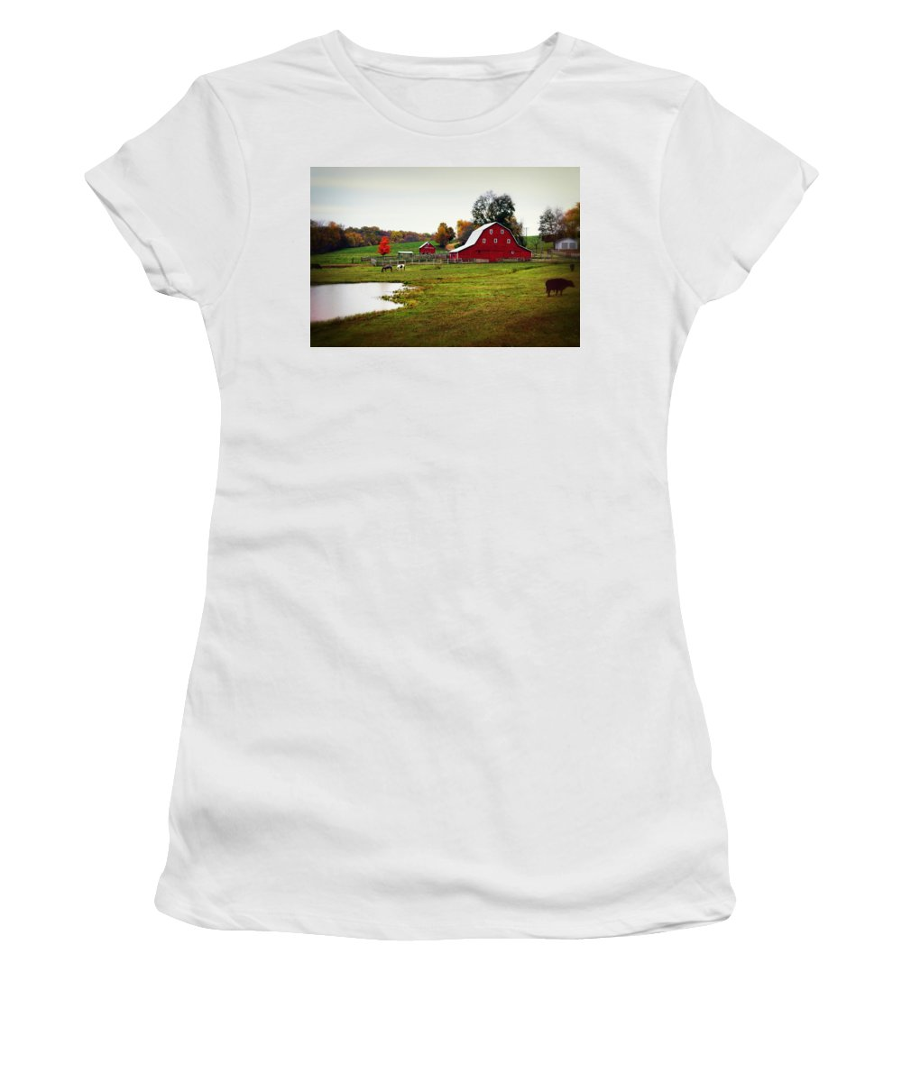 Barn Women's T-Shirt featuring the photograph Farm Perfect by Marty Koch