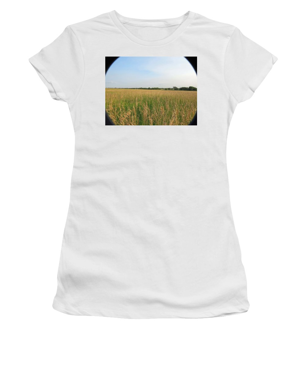 Wheat Women's T-Shirt featuring the photograph Field Of Beauty by Aaron Martens