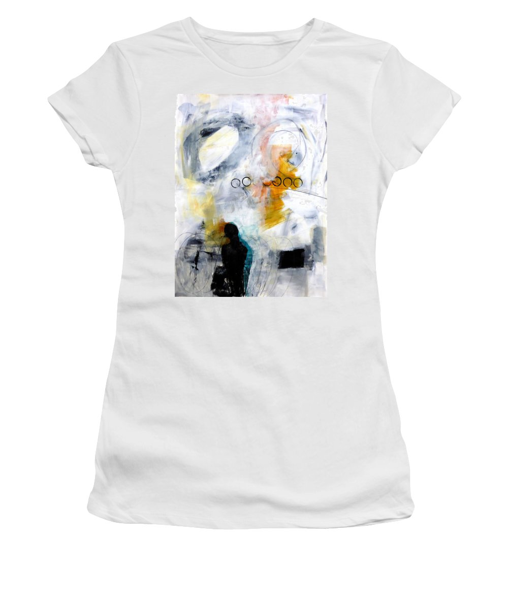 Women's T-Shirt featuring the painting Figure 2 by Jane Davies