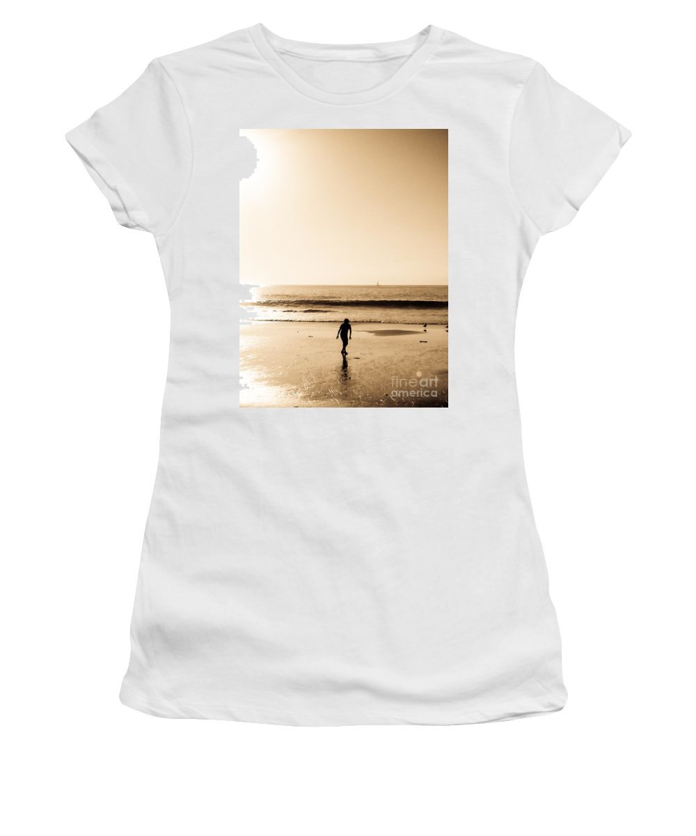 Nature Women's T-Shirt featuring the photograph Filtered Beach by Fei A