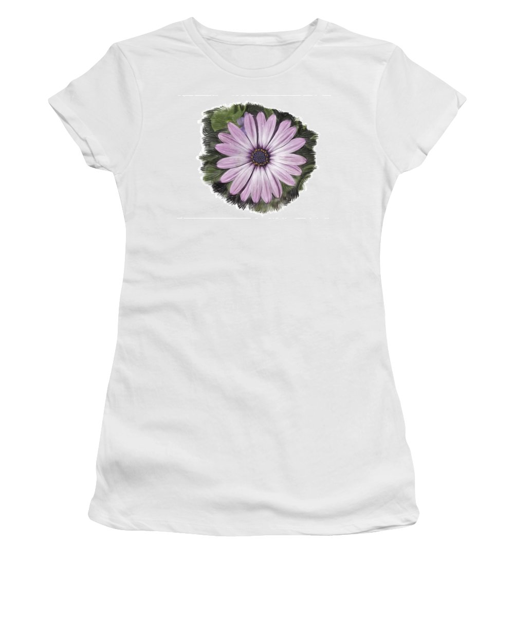 Flower Women's T-Shirt (Athletic Fit) featuring the photograph Flower Paint by James Ekstrom