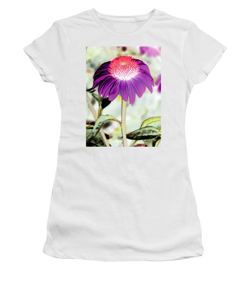 Flower Women's T-Shirt featuring the photograph Flower Power 1357 by Pamela Critchlow