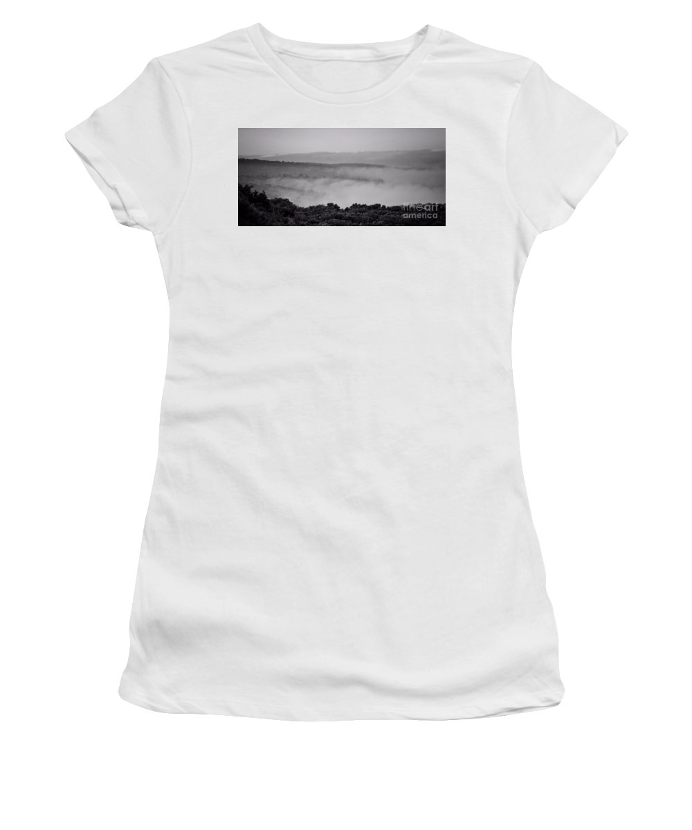 Women's T-Shirt (Athletic Fit) featuring the photograph Fog Over Montague by Chet B Simpson