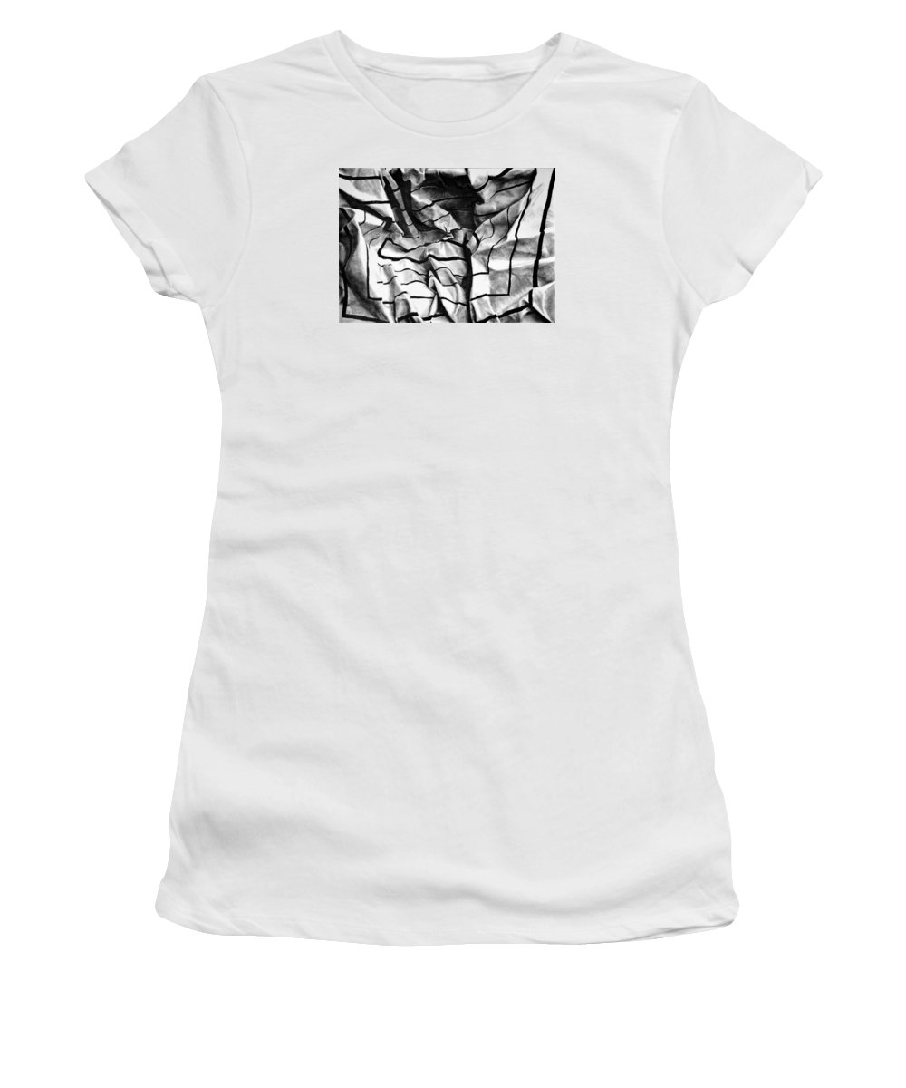 All Women's T-Shirt featuring the pastel Folding Structure I by Iliyan Bozhanov