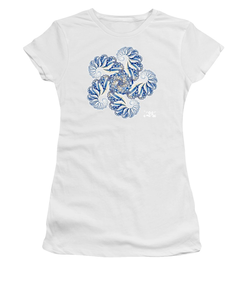 Fractal Women's T-Shirt featuring the digital art Fractal 1 by Steve Purnell