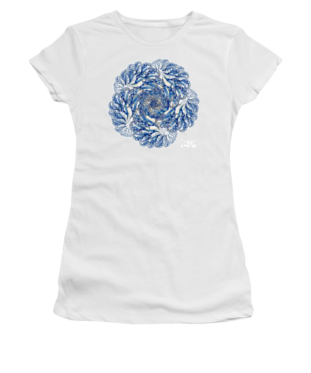 Fractal Women's T-Shirt featuring the digital art Fractal 4 by Steve Purnell