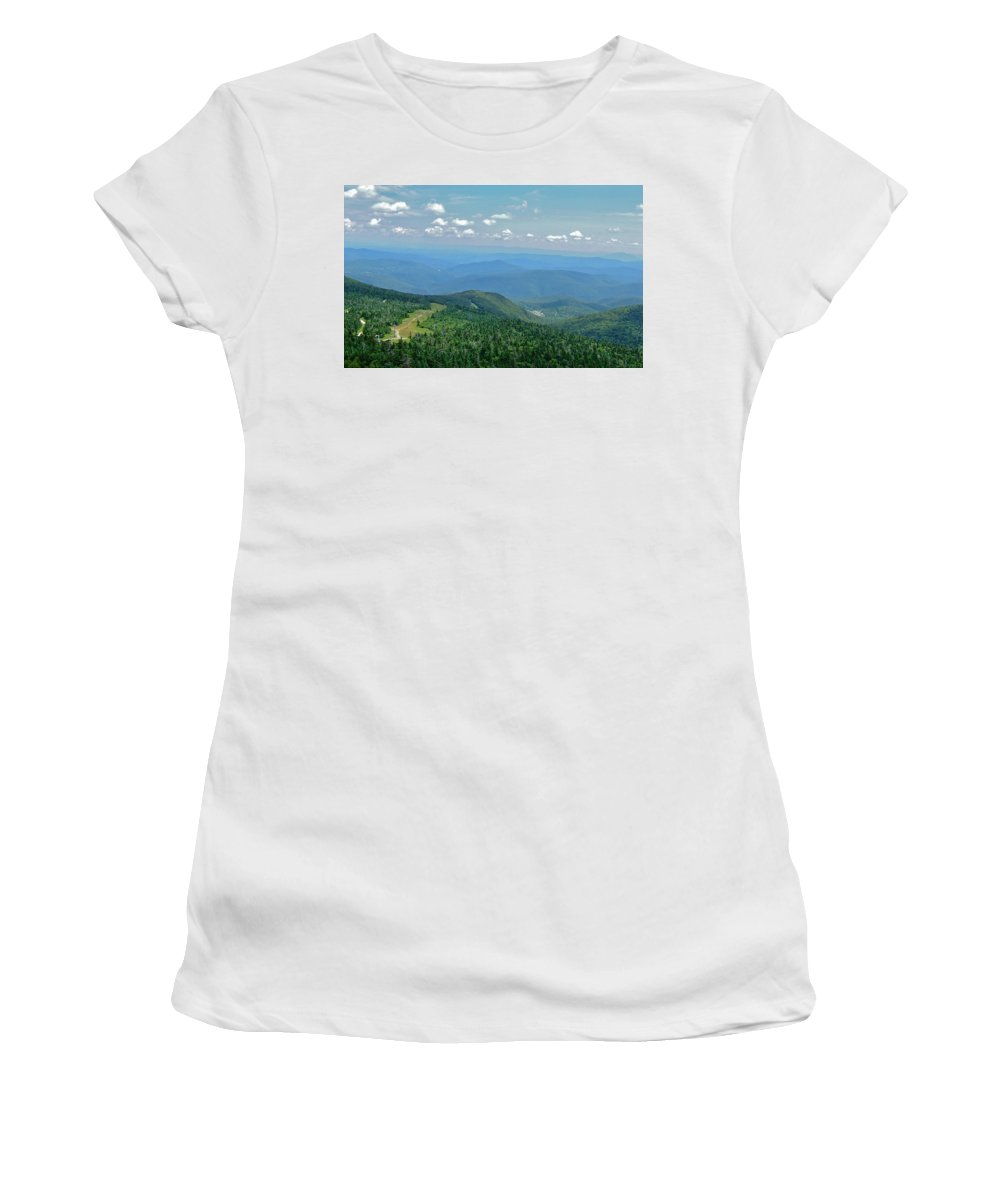 View Women's T-Shirt (Athletic Fit) featuring the photograph From Mt. Killington by Susan Wyman