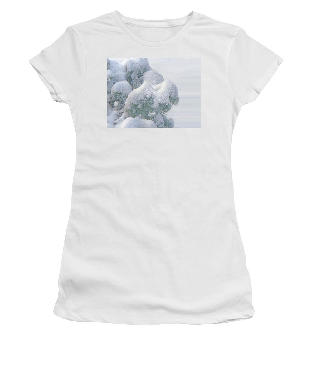 Winter Women's T-Shirt (Athletic Fit) featuring the photograph Frozen Beauty by Ian MacDonald