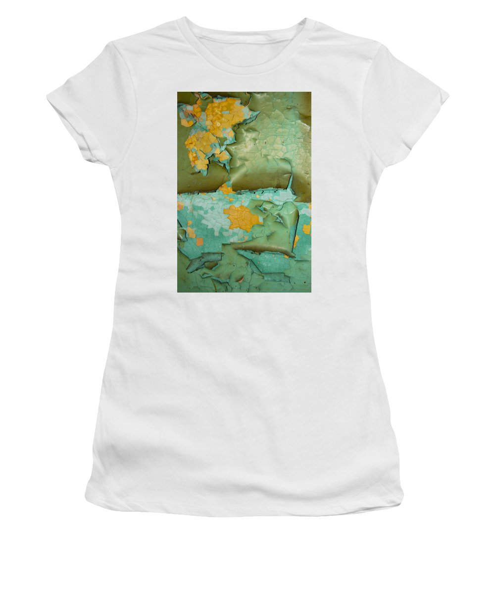 Abstract Women's T-Shirt (Athletic Fit) featuring the photograph Garbage Trees by The Artist Project