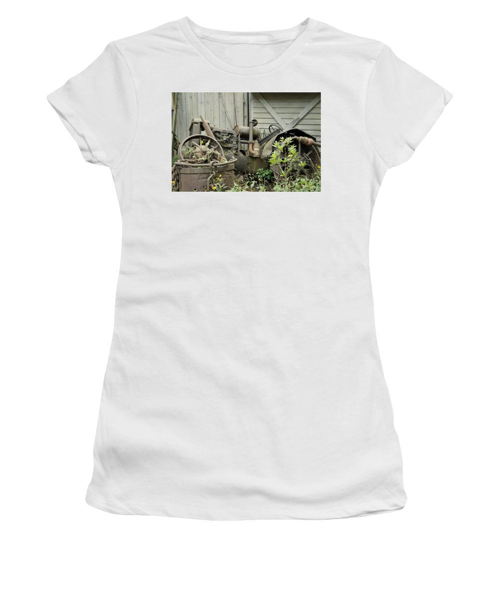 Garden Women's T-Shirt (Athletic Fit) featuring the photograph Garden Wreck by Laurie Perry