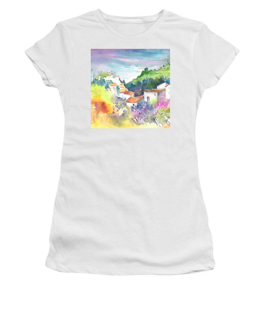 Spain Women's T-Shirt featuring the painting Gatova Spain 03 by Miki De Goodaboom