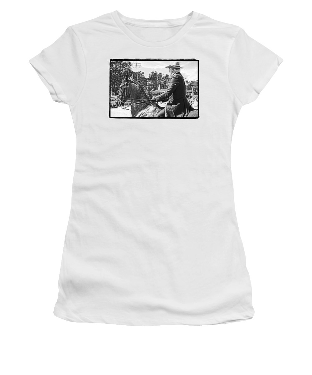 Horse Women's T-Shirt featuring the photograph Gentleman Rider by Alice Gipson