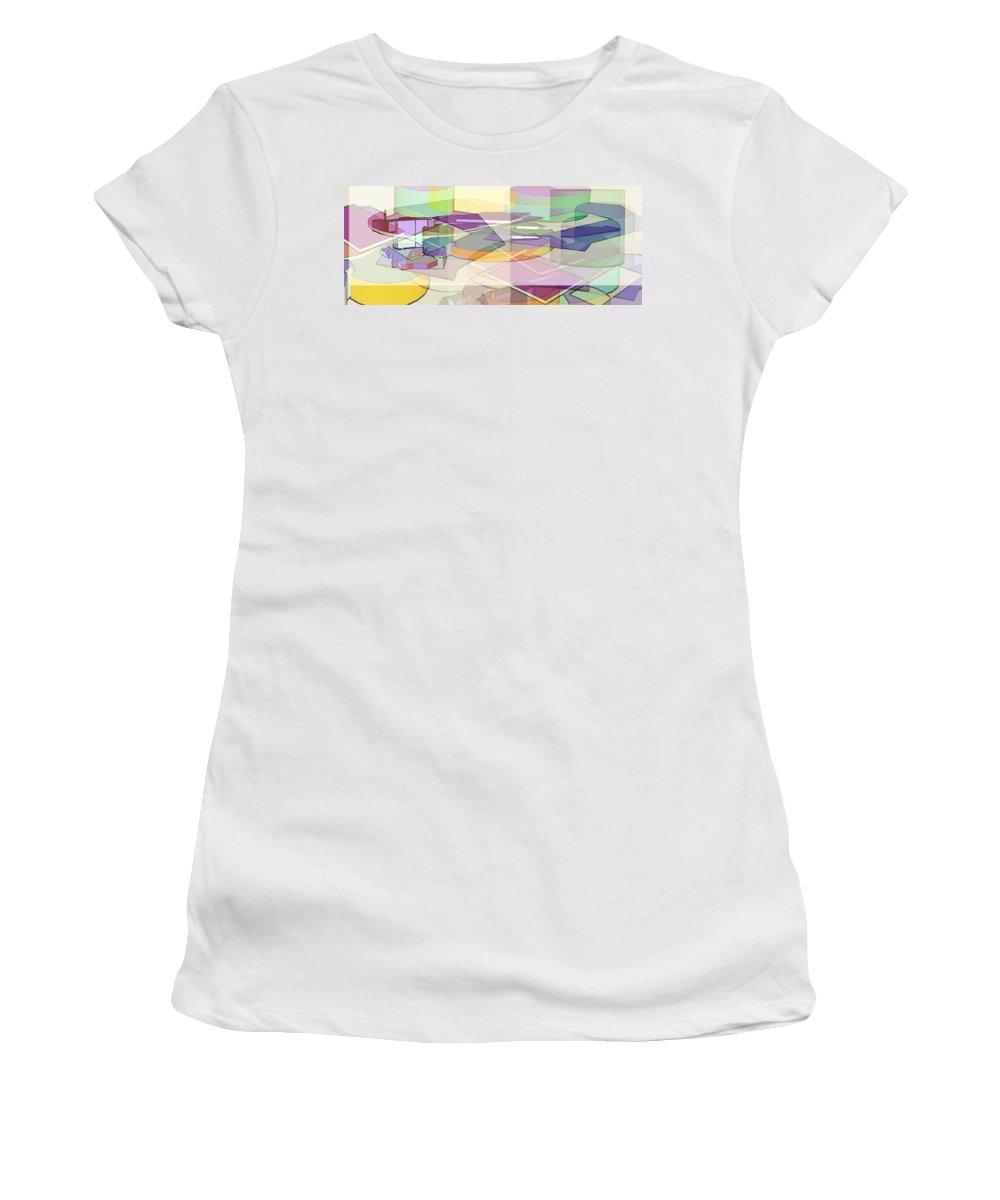 Digital Art Women's T-Shirt featuring the digital art Geo-art by Cathy Anderson