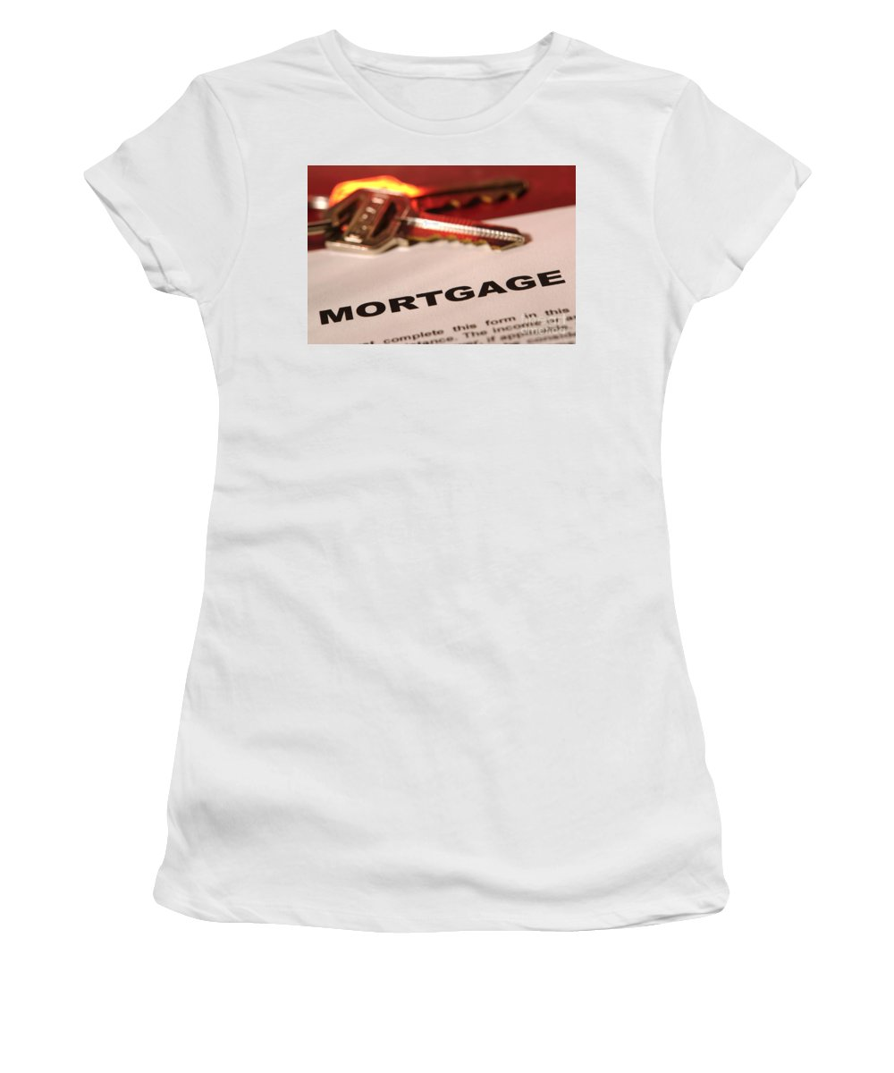 Mortgage Women's T-Shirt (Athletic Fit) featuring the photograph Getting A New Home by Olivier Le Queinec