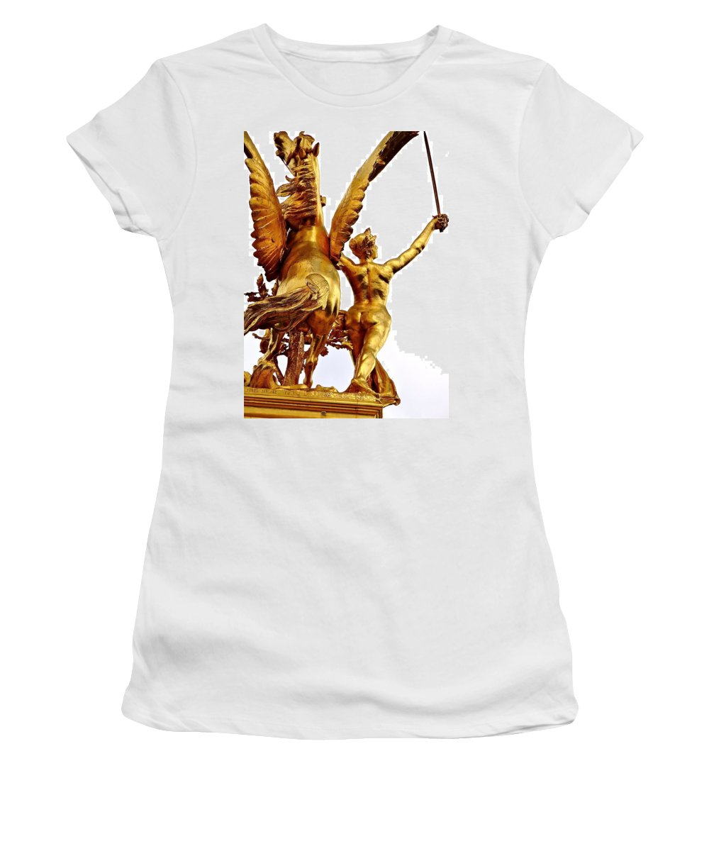 Gilded Sculpture Women's T-Shirt featuring the photograph Gilded Glory by Ira Shander