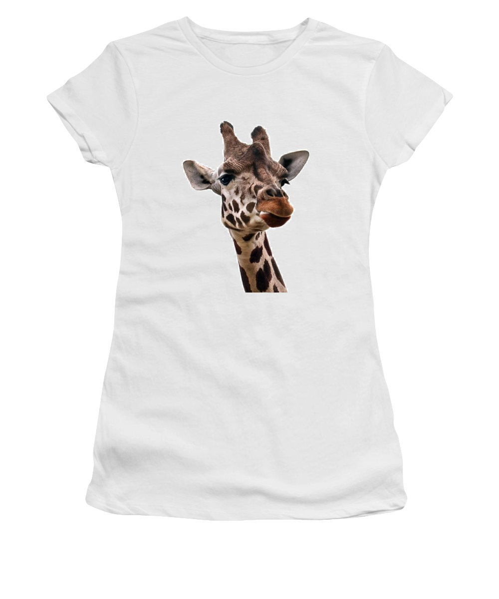 Nature Women's T-Shirt featuring the photograph Giraffe by Marcia Colelli
