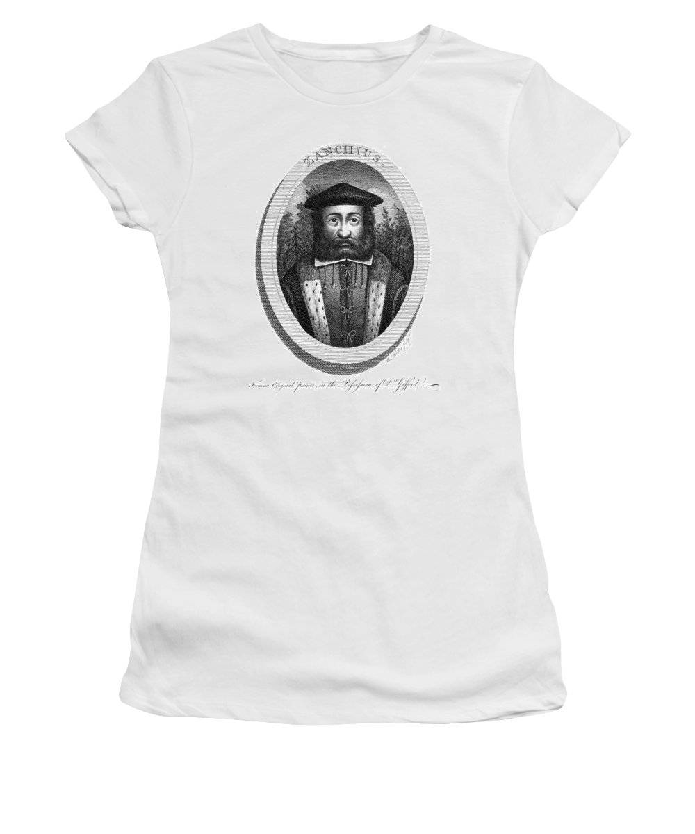 16th Century Women's T-Shirt (Athletic Fit) featuring the painting Girolamo Zanchi (1516-1590) by Granger