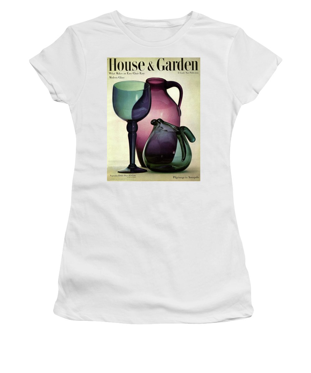 Photograph Women's T-Shirt featuring the photograph Glass Pieces By Benko by Haanel Cassidy
