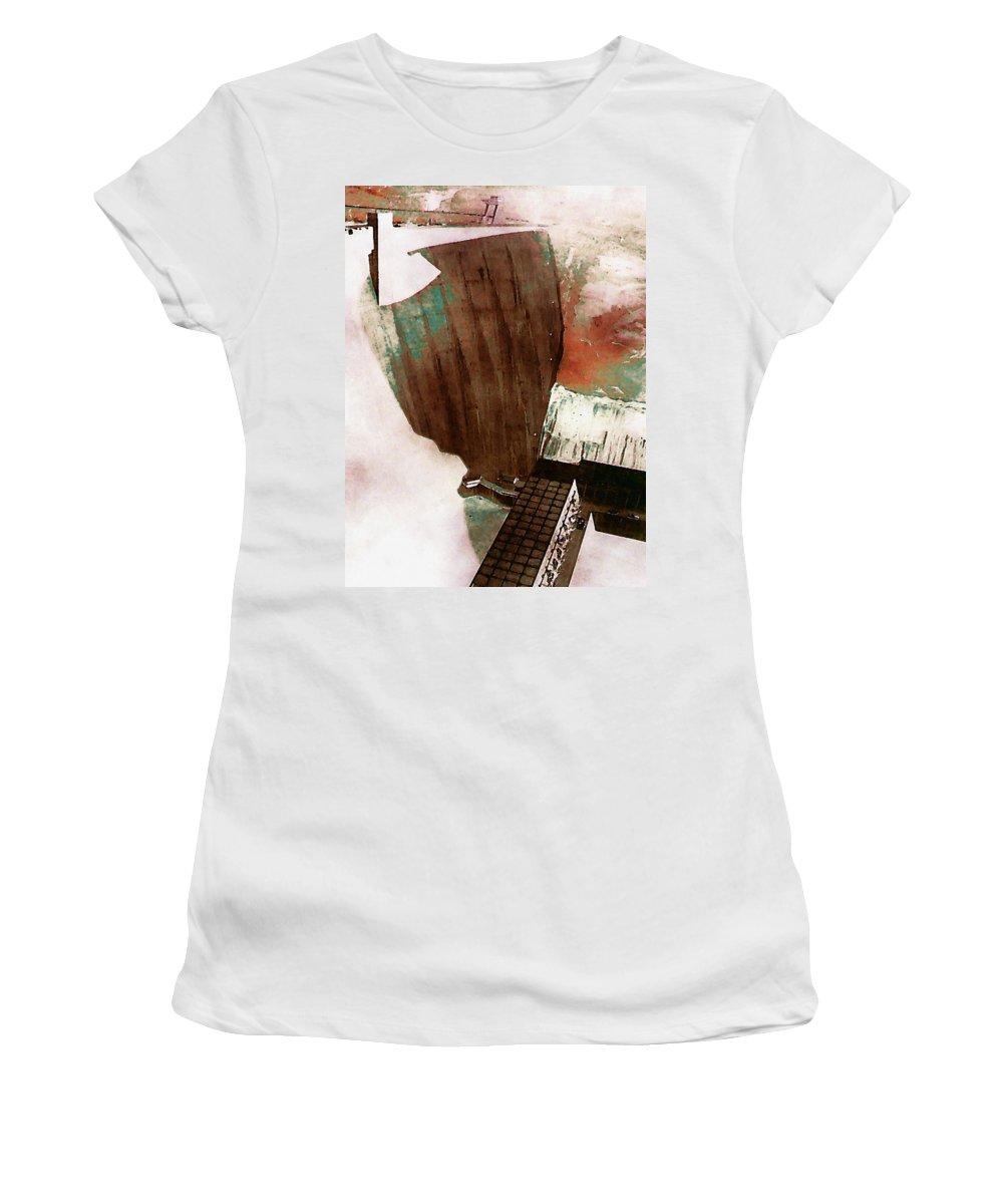 Digital Women's T-Shirt (Athletic Fit) featuring the digital art Glen Canyon Dam by David Hansen